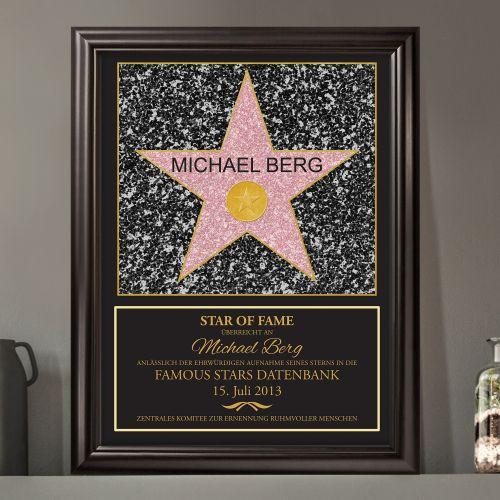 Individuellbesonders - Star of Fame personalisiertes Bild - Onlineshop Monsterzeug
