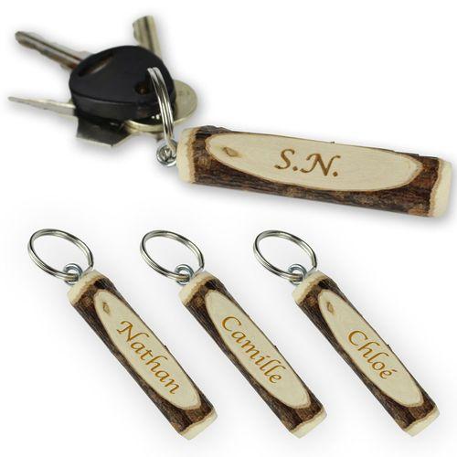 Porte-clé en bois – personnalisé
