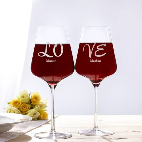 Verres à vin Love – Set de 2