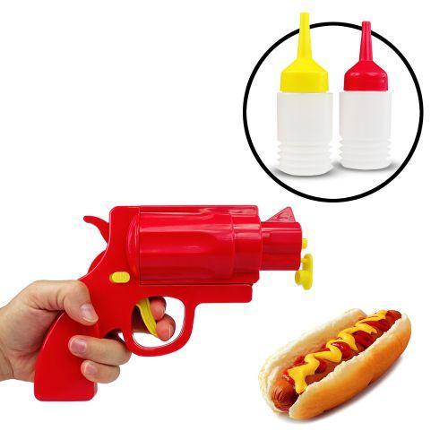 Senf und Ketchup Spender Pistole