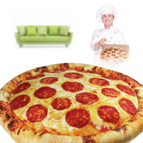 pizza kissen lustiges kissen mit praktischer funktion. Black Bedroom Furniture Sets. Home Design Ideas