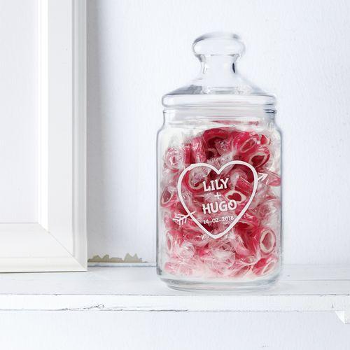 Bonbonnière avec gravure – Flèche d'Amor