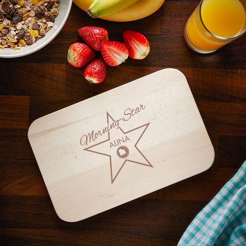 Planchette Petit-déjeuner avec Gravure – Star du matin