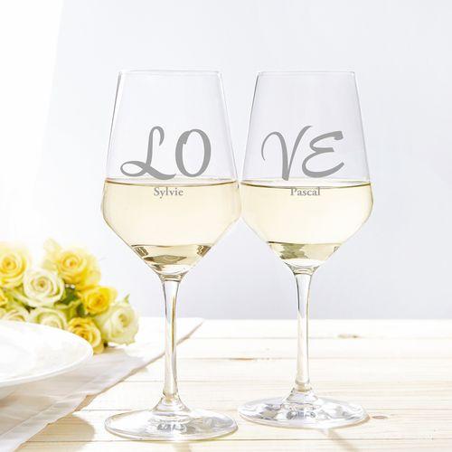 Verres à vin blanc LOVE – Set de 2