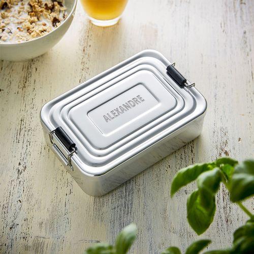 Boîte repas gravée – rectangulaire