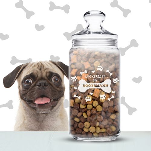 Leckerlies für Hunde - personalisiertes Vorratsglas