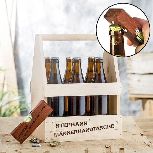 Handwerker Paket - Bierträger mit Wasserwaage