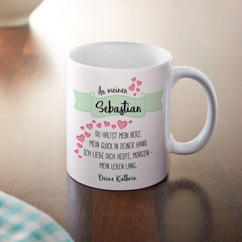 Personalisierte Tasse Liebesgedicht