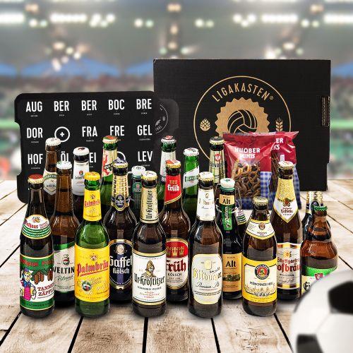 Ausgefallengrillen - Ligakasten 18 Biere aus den Städten der Erstligavereine - Onlineshop Monsterzeug