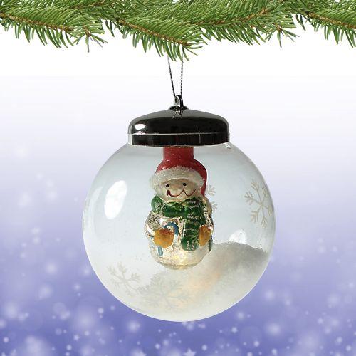 LED Weihnachtskugel Schneemann