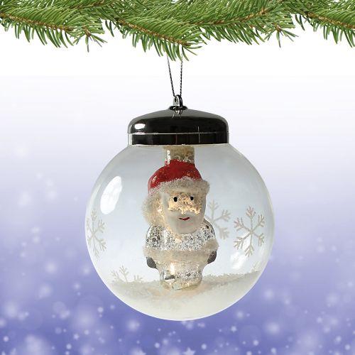 LED Weihnachtskugel Weihnachtsmann