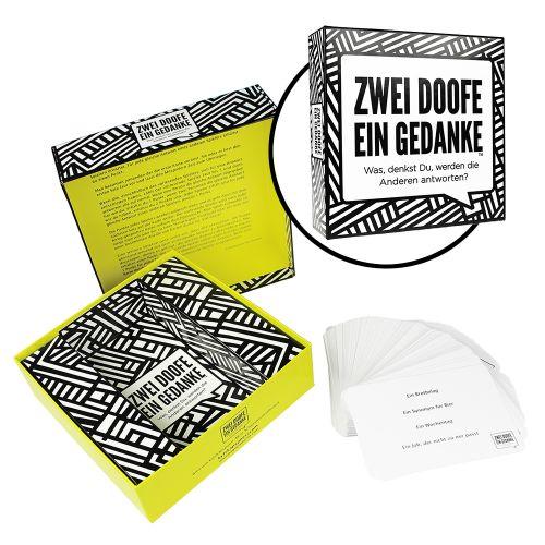zwei doofe ein gedanke lustiges kartenspiel zum assoziieren. Black Bedroom Furniture Sets. Home Design Ideas