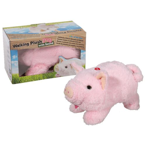 Laufendes Kuscheltier Schwein mit Soundeffekt
