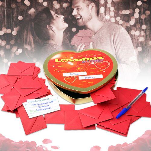 Lovebox für Paare - 52 Gutscheine Do it yourself