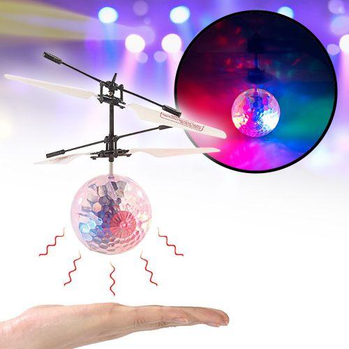 Hubschrauber Ball mit bunter LED Beleuchtung