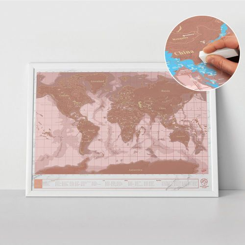 Scratch Map Rosegold Edition