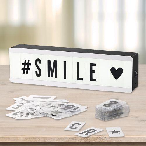 mini led lightbox mit buchstaben 100 tlges set leuchtschild. Black Bedroom Furniture Sets. Home Design Ideas