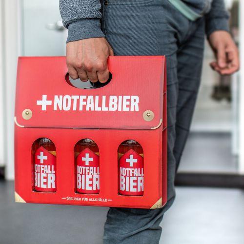 Bier Handtasche für Männer Notfallbier