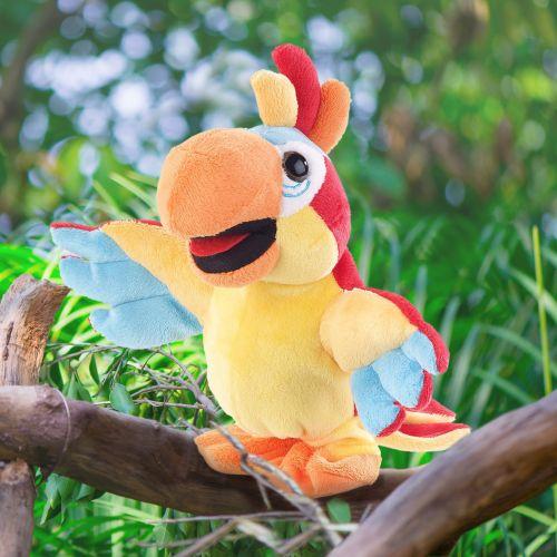 Laufendes Kuscheltier Papagei mit Soundeffekt