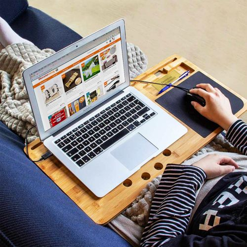 Ausgefallengadgets - 2in1 Laptoptisch und Knietablett mit Mauspad - Onlineshop Monsterzeug