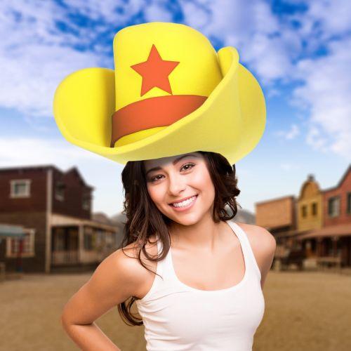 XXL Cowboyhut gelb
