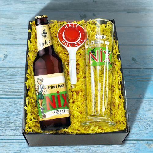 Witzigspassgeschenke - NiX im Glas Biergeschenk Box - Onlineshop Monsterzeug