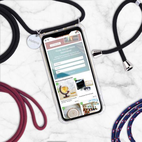Individuellschmuck - Personalisierte Smartphone Kette 3 Farben - Onlineshop Monsterzeug