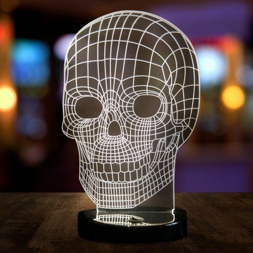 - 3D Tisch Leuchte Totenkopf - Onlineshop Monsterzeug