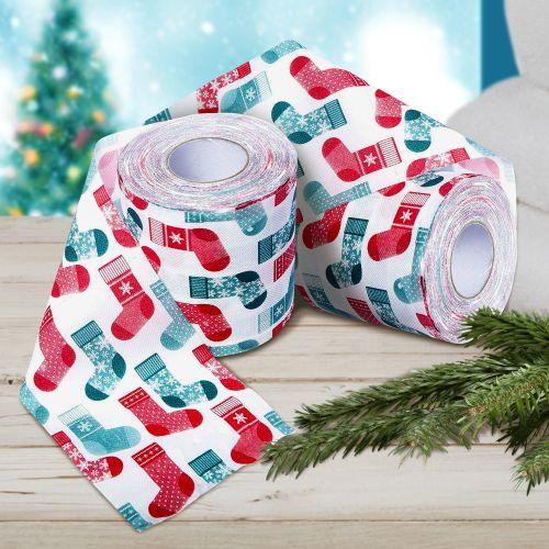 Witzigspassgeschenke - Bedrucktes Toilettenpapier Weihnachtsstrumpf 2er Set - Onlineshop Monsterzeug
