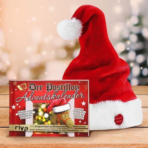 Witziglustigebekleidung - Der Postillon Adventskalender Weihnachtsmütze im Set - Onlineshop Monsterzeug