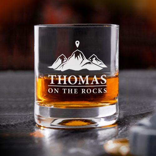 Individuellküchenzubehör - Personalisiertes Whiskyglas On the Rocks - Onlineshop Monsterzeug