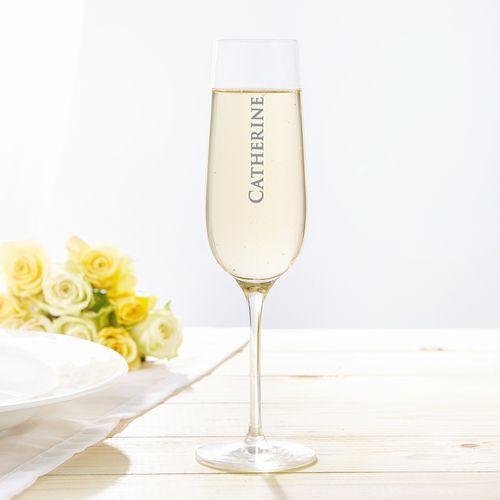 Flûte à champagne avec gravure personnalisée