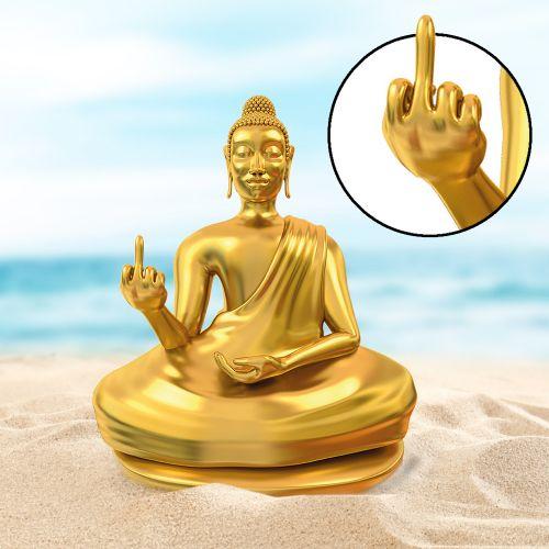 Witzigspassgeschenke - Am Arsch vorbei Buddha Statue - Onlineshop Monsterzeug