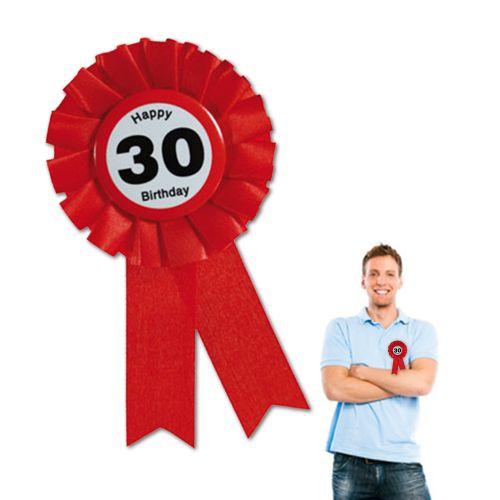 Ansteckbutton zum 30. Geburtstag
