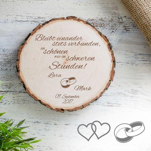 - Baumscheibe zur Hochzeit Bleibt verbunden - Onlineshop Monsterzeug