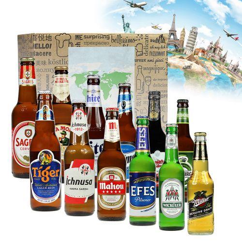 bier weltreise xl 12 teilige geschenkbox internationales bier. Black Bedroom Furniture Sets. Home Design Ideas