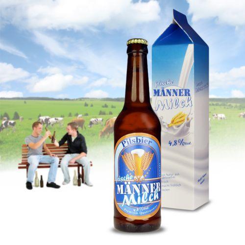 Witzigspassgeschenke - Bierflasche 0,33 l Männermilch - Onlineshop Monsterzeug