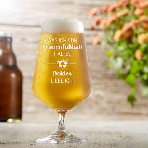 Bierglas mit Gravur - Frauenfußball