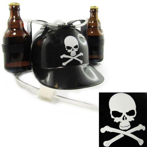Bierhelm schwarz mit Totenkopf