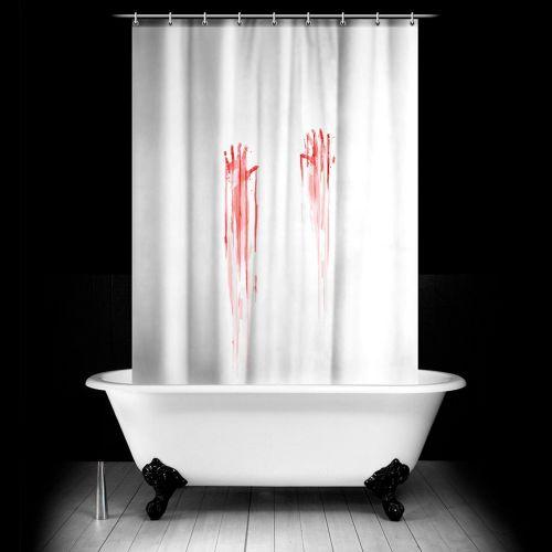 blutbad duschvorhang vorhang mit blutigem aufdruck. Black Bedroom Furniture Sets. Home Design Ideas