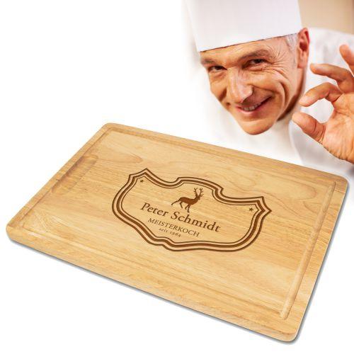 Chefkoch - graviertes Schneidebrett