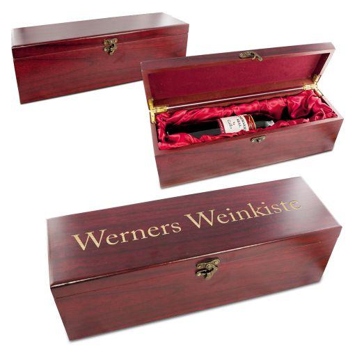 Edle weingeschenkbox aus echtholz edel wein verschenken for Edle dekoartikel