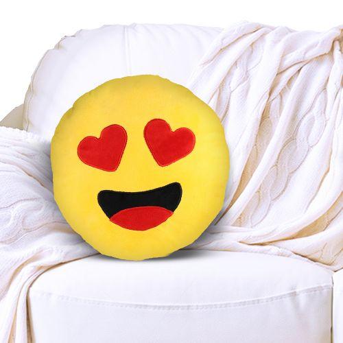 Emoji Kissen - Herzaugen