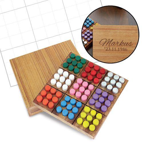 Farben Sudoku in edler Holzbox