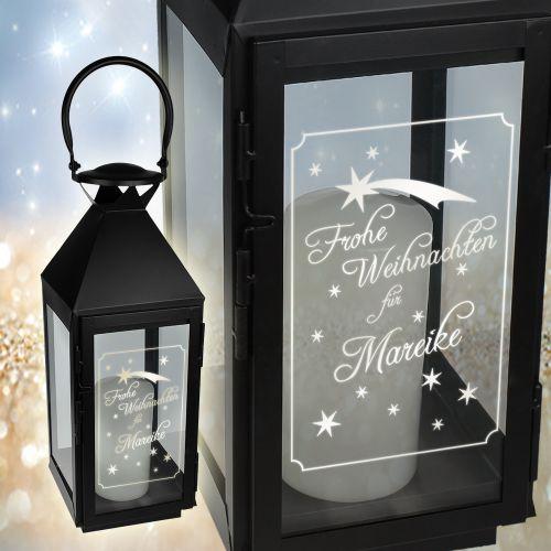 festtagslaterne mit gravur sch ne geschenkidee zu weihnachten. Black Bedroom Furniture Sets. Home Design Ideas