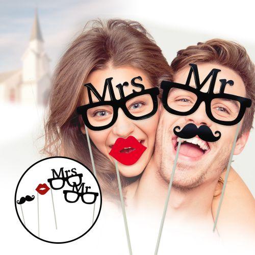 Accessoires photo pour mariage – Mr and Mrs