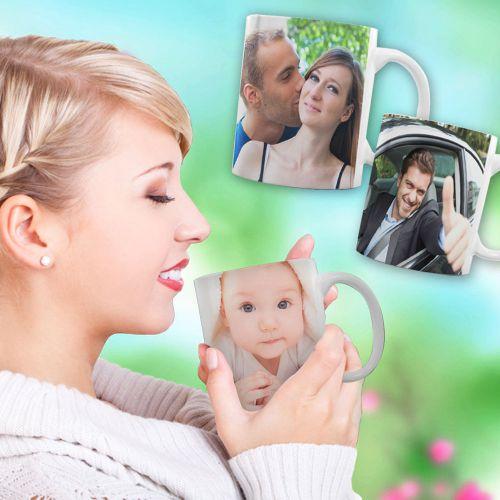 Fototasse Frau personalisiert