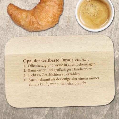 Frühstücksbrett mit Gravur - Definition Weltbester Opa