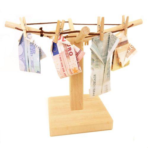 Geld W�schespinne