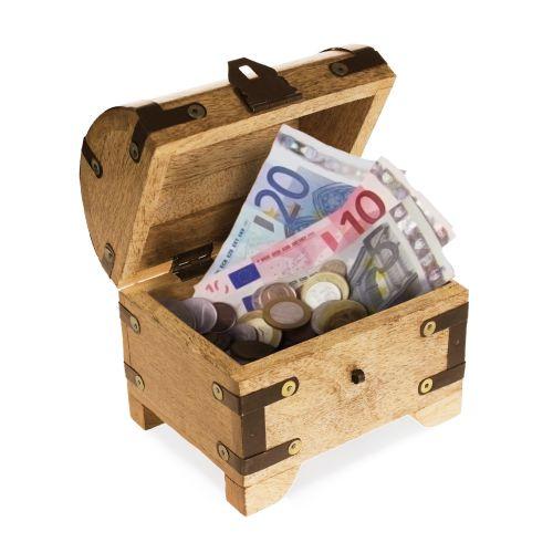 Geldgeschenke schatzkiste geld abenteuerlich verschenken - Schatzkiste basteln ...